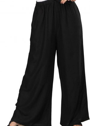 Rayon Black Palazzo Pant for women