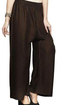 Rayon Brown Palazzo Pant for women