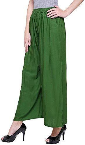 Rayon Green Palazzo Pant for women