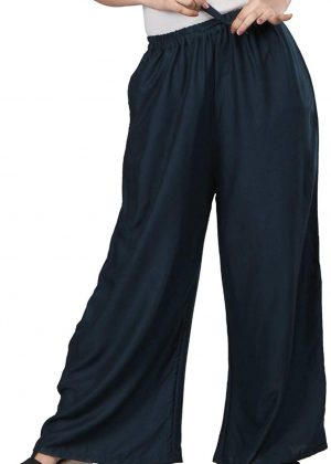 Rayon navy blue Palazzo Pant for women