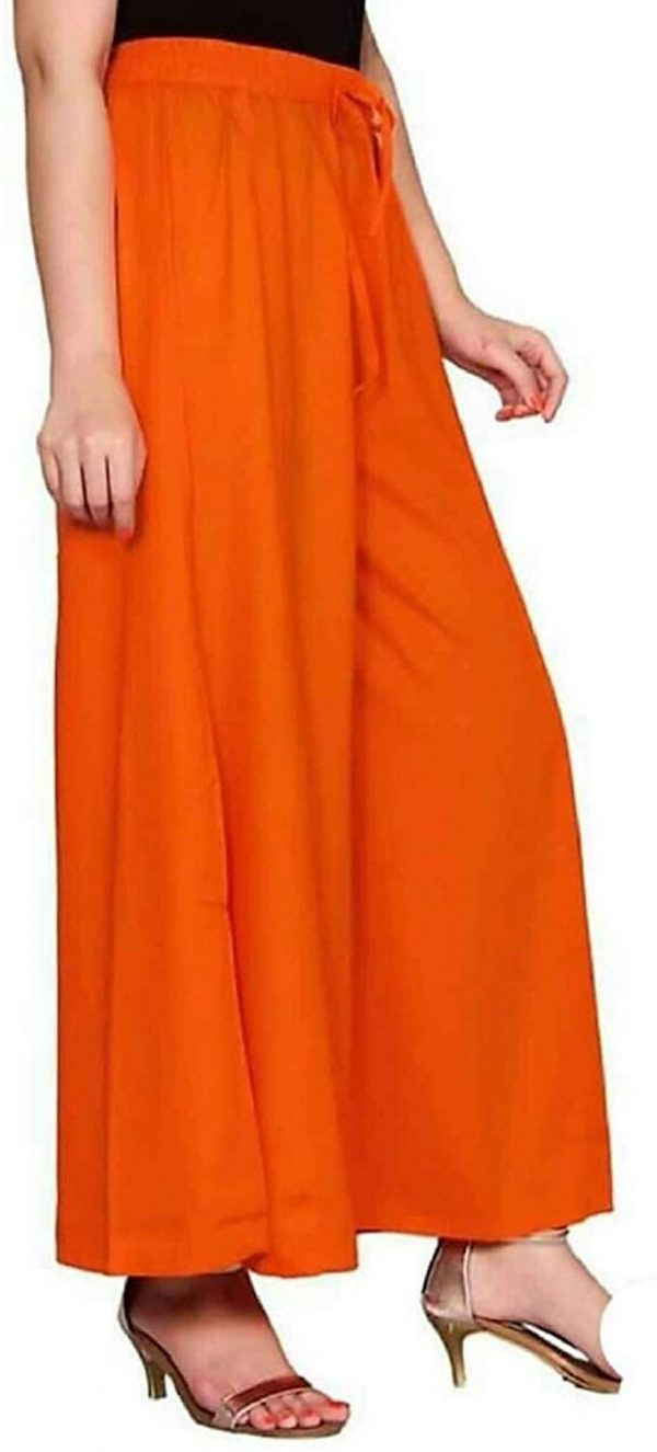 Rayon Orange Palazzo Pant for women