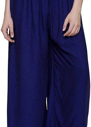 Rayon Royal Blue Palazzo Pant for women