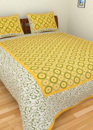 Delivered within 3-4 business days. 7 days Easy Return Policy (T&C apply). Genuine Product Guarantee. Bedsheet Size: (90″ X 100″) approx Size: Double,Pattern :Floral Material: cotton Pacakge Contents: 1 PC Bedsheet and 2 Pillow Cover