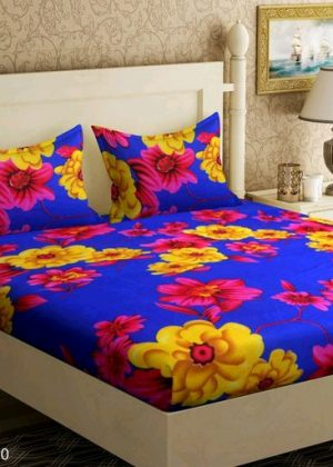 Double bedsheet with 2 pillow covers Ploymicro fabric