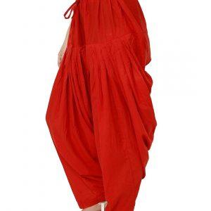 full patiala salwar red