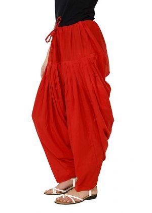 full patiala salwar red