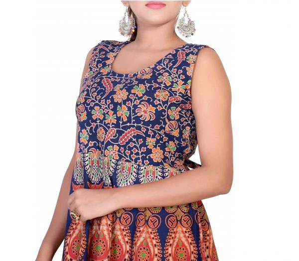 cotton jaipuri short frock kurti for 12-13-14 years girls