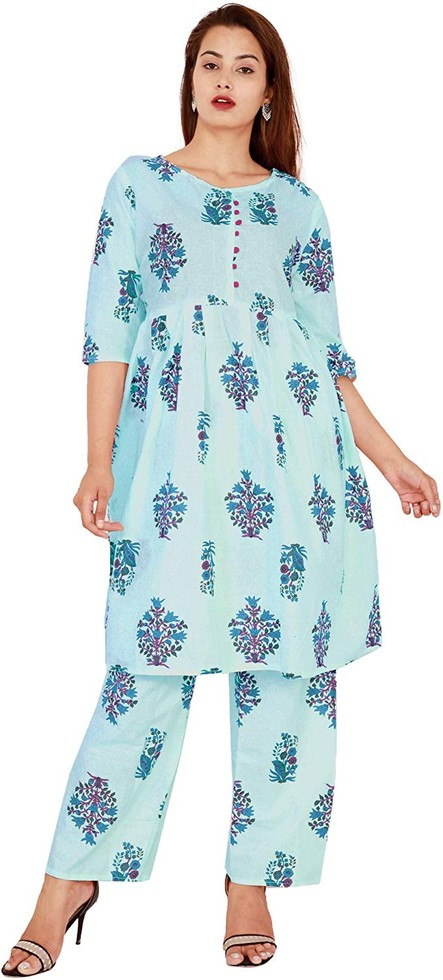 cotton kurti with plazzo