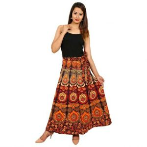 Cotton jaipuri printed skirt