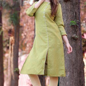 Cotton two tone fabric kurti